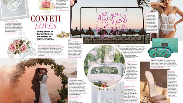 WEDDING CONFETTI IS IN THE AIR AND LOCAL PRESS TOO!